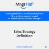 Management Fix 9 Sales Strategy Definition