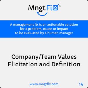 Management Fix 14 Company/Team Values Elicitation and Definition