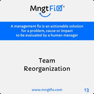 Management Fix 13 Team Reorganization