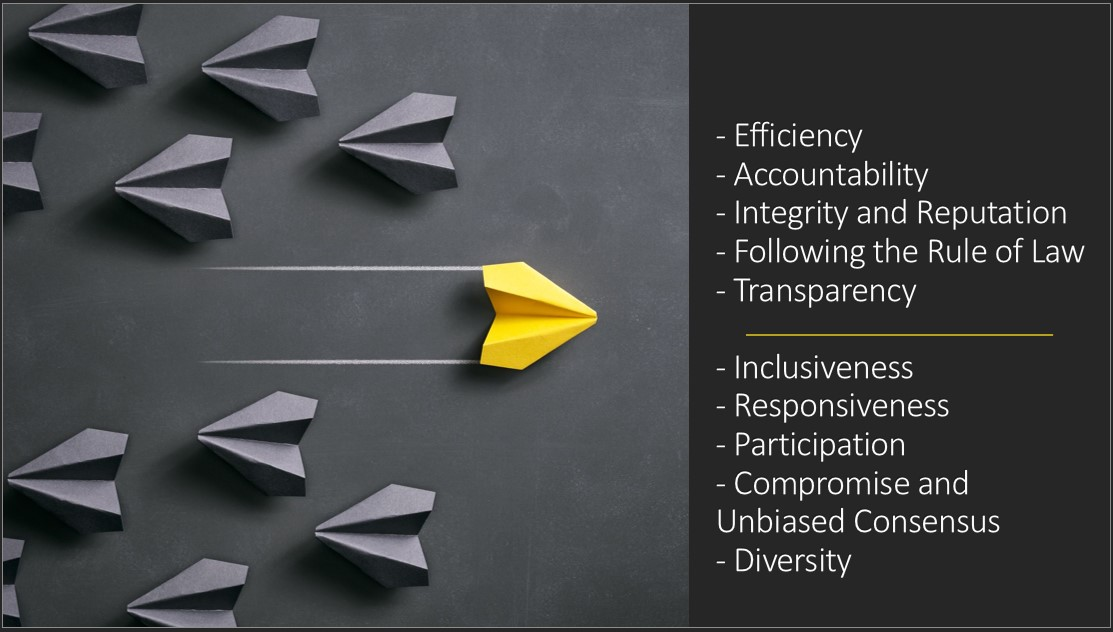 Graphic showing the values of the CMMC-AB Board