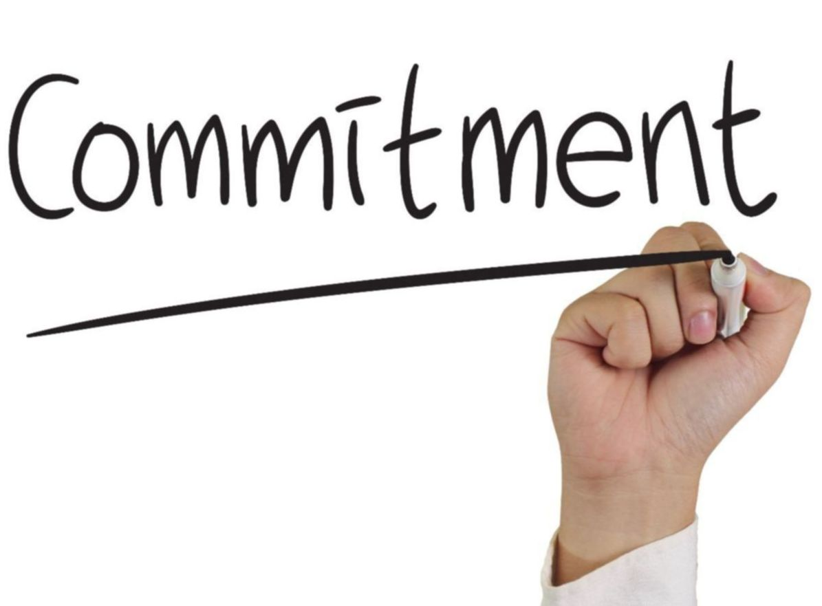 """""""Commitment"""" graphic"""