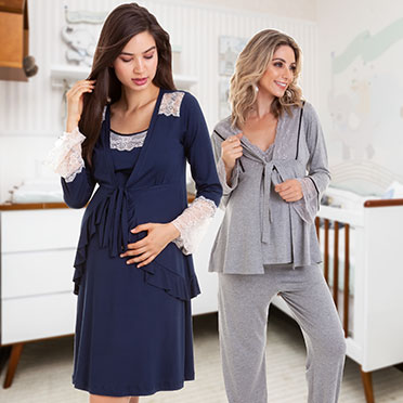 Camisola e Pijama maternidade no Jardins