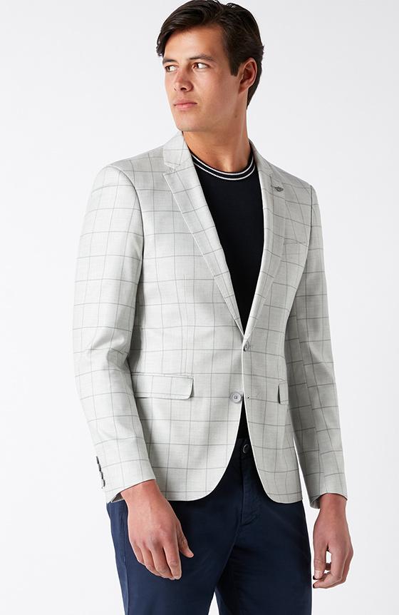 windowpane check blazer