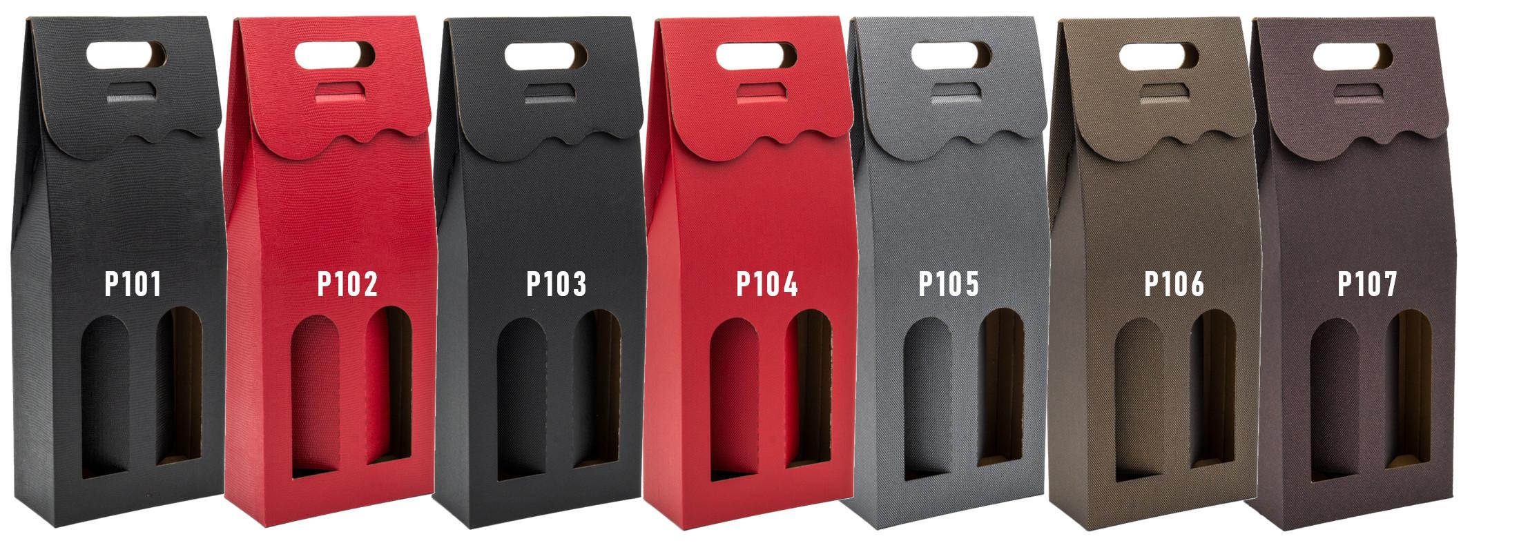 Pudełko na 2 wina z logo
